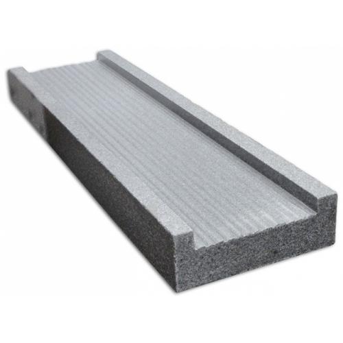 Eindpaal Graniet donker grijs t.b.v. grindkorven schutting