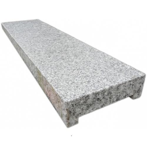 Eindpaal Graniet licht grijs t.b.v. schanskorven schutting